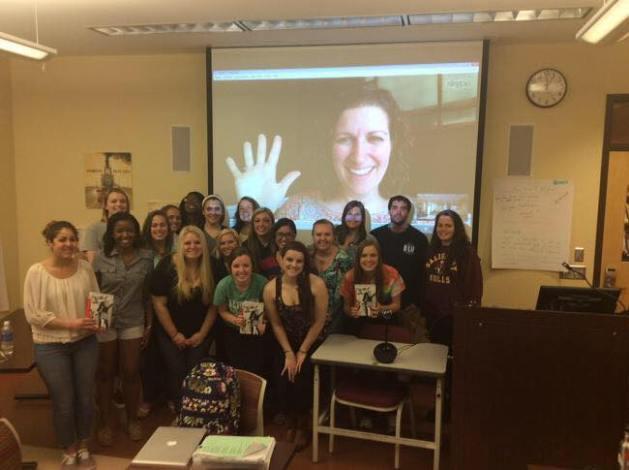 Skpe visit with Salisbury University students