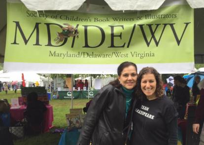 At the Gaithersburg Book Festival with fellow authors Ann McCallum